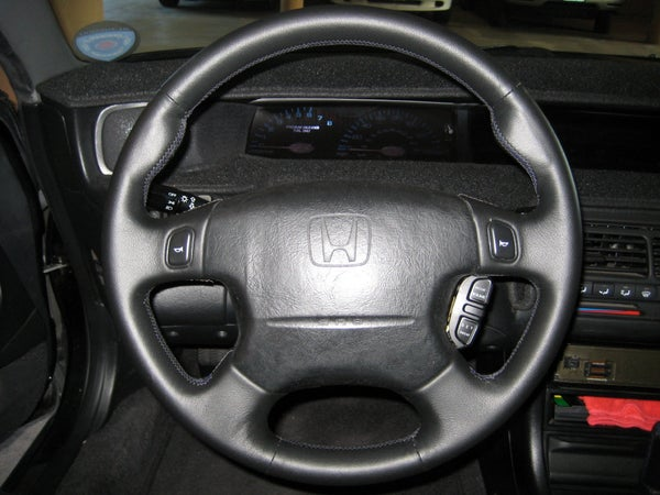 Leather Car Steering Wheel and Shift Boot/knob