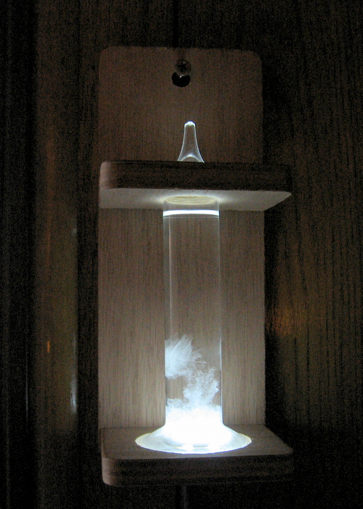 Glowing Fitzroy Storm Glass