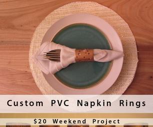 Custom PVC Napkin Rings: Weekend Project