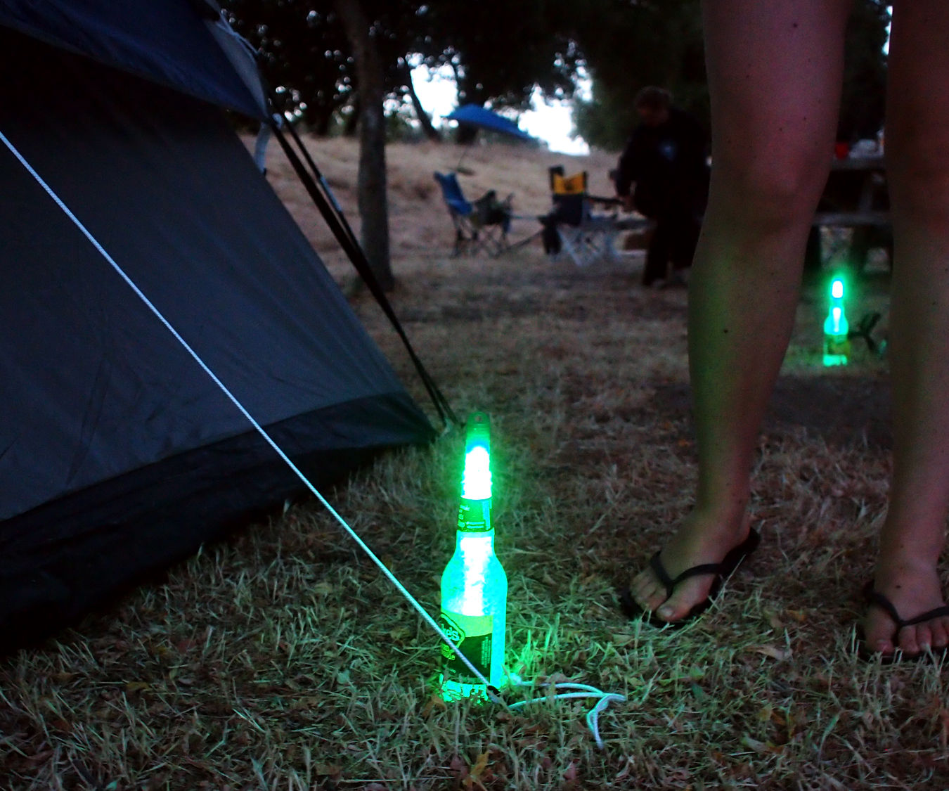 Tent stake marker