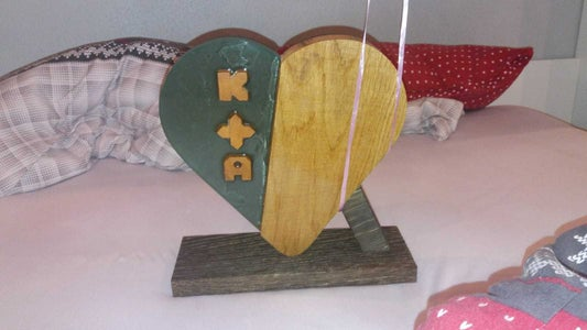 Epoxy Heart As Wedding Present