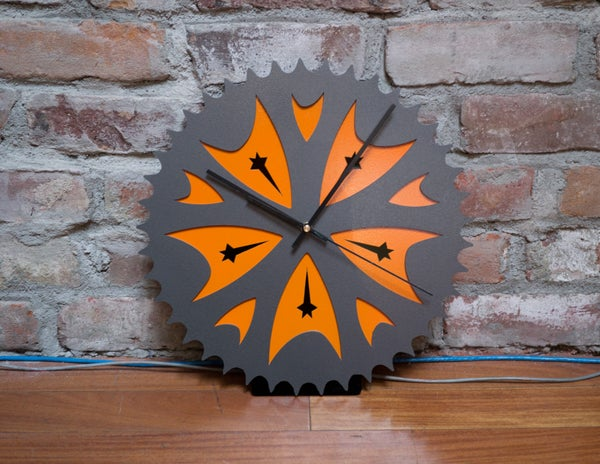 Star Trek X Bicycle Clock