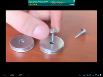 SCREW THREE WASHERS EACH ON ANY WOODEN SURFACE AS SHOWN IN THE IMAGE.