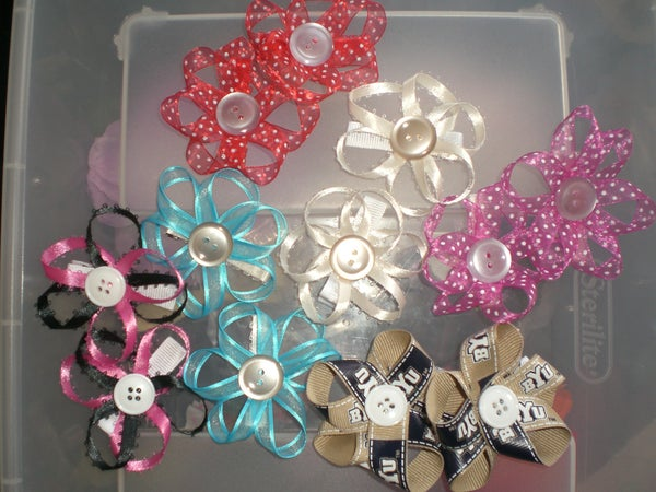 How to Make Button Flower Clippies for Your Little Girl