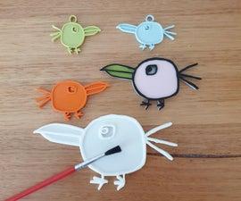 Birdy Family 3D Art Project
