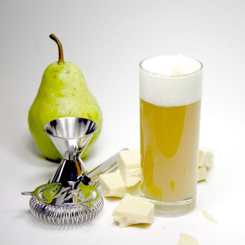 """Creamy Pear """"Pudding"""" Cocktail"""