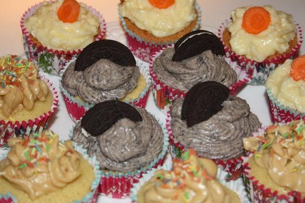 Delicious Cupcakes - Oreo, Carrot, Peanut Butter!