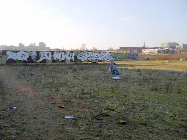 Create colourful wastelands by colouring waste