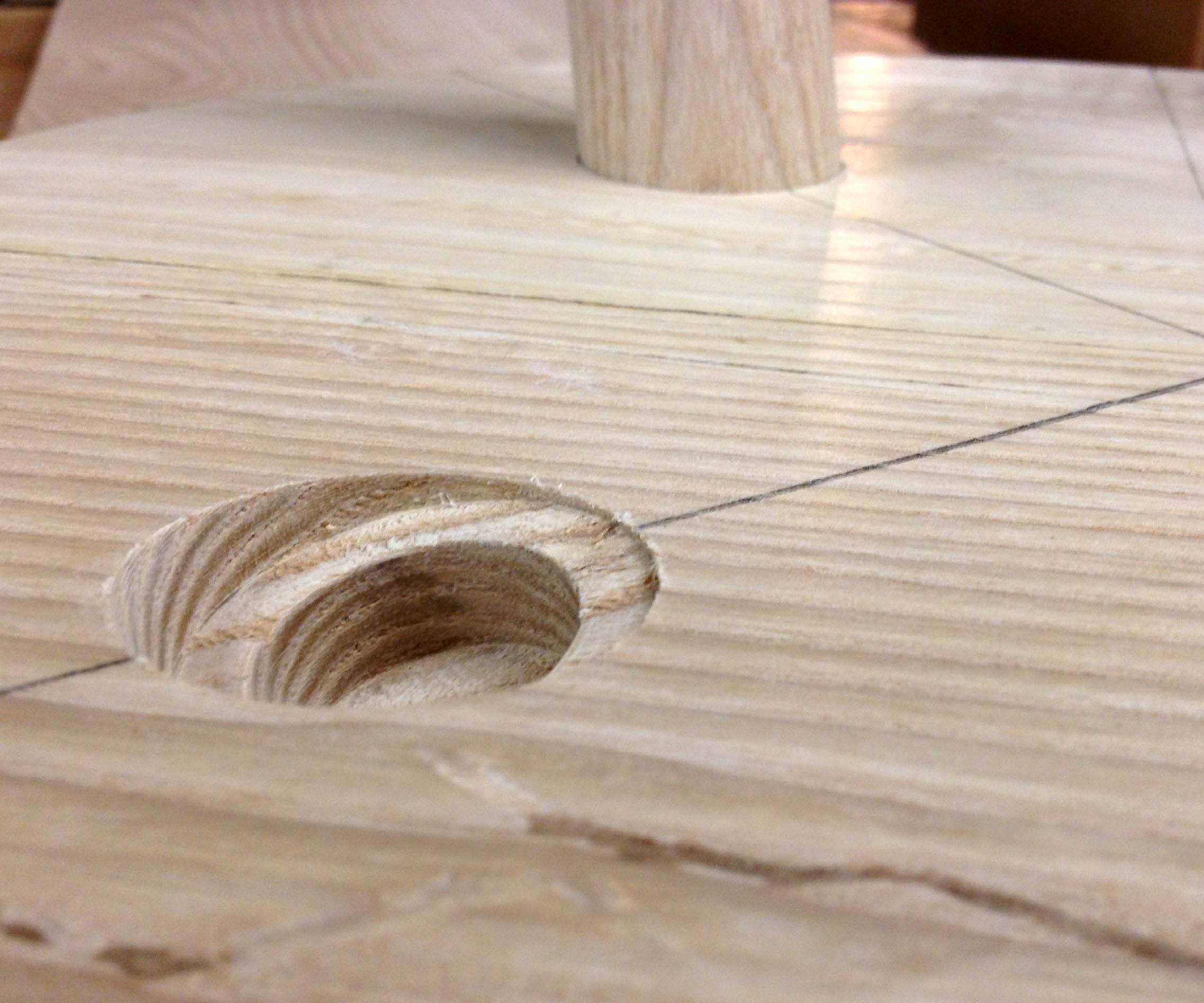 Easy Angled Mortises on the Drill Press - (Attaching Round Legs at an Angle)
