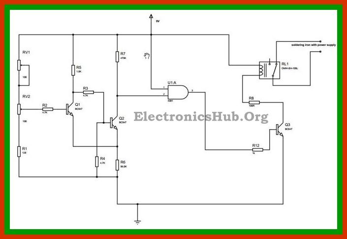 Automatic Soldering Iron Power Shut OFF Circuit