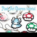 Pixel Art Charms Tutorial From Hama or Perler Beads
