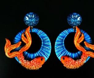 Fish Silk Thread Ear Rings