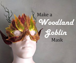 How to Make a Woodland Goblin Mask With Craft Store Fake Florals