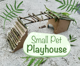 Small Pet Playhouse + Sand Bath