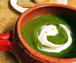 简单的spud菠菜汤