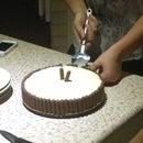Chocolate honeycomb cheesecake