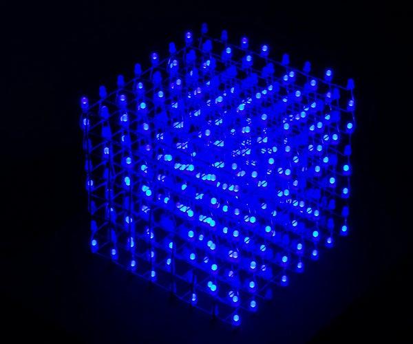 Club Jameco 8x8x8 LED Cube Kit