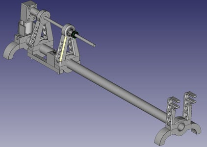 Slide the Motor Assembly Into the Head Support and Then Assemble to the Base