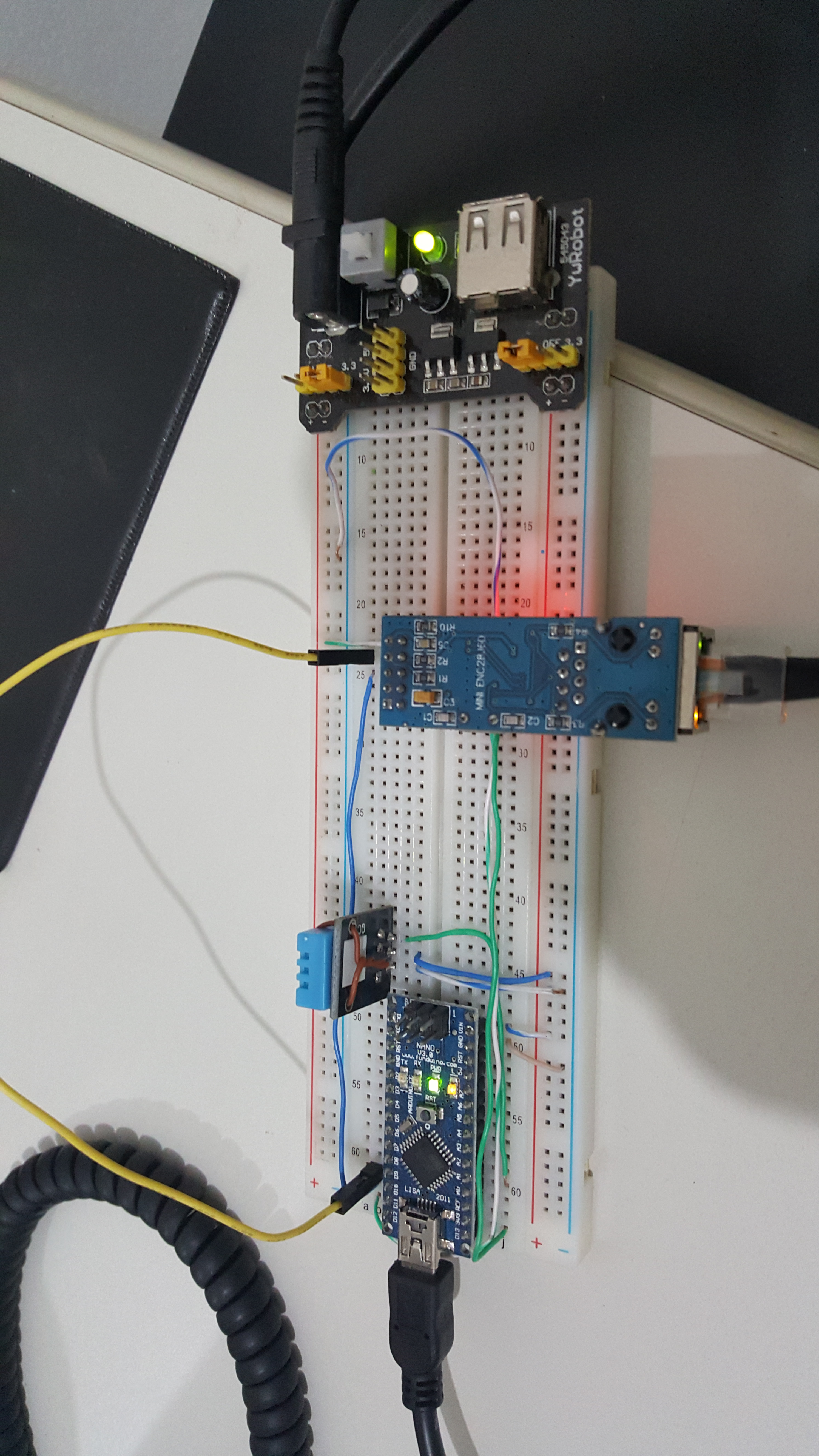 Arduino Temp/Humidity with LCD and Web Interface