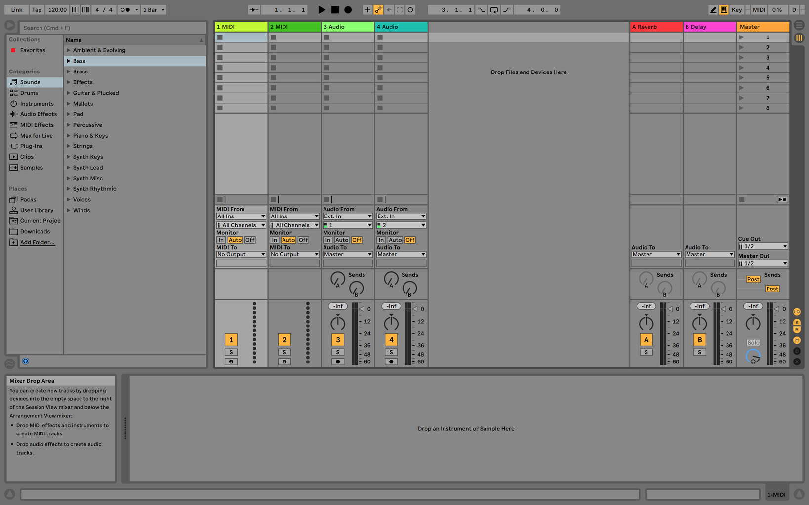 Creating a 4-Bar Beat Using Ableton Live 10
