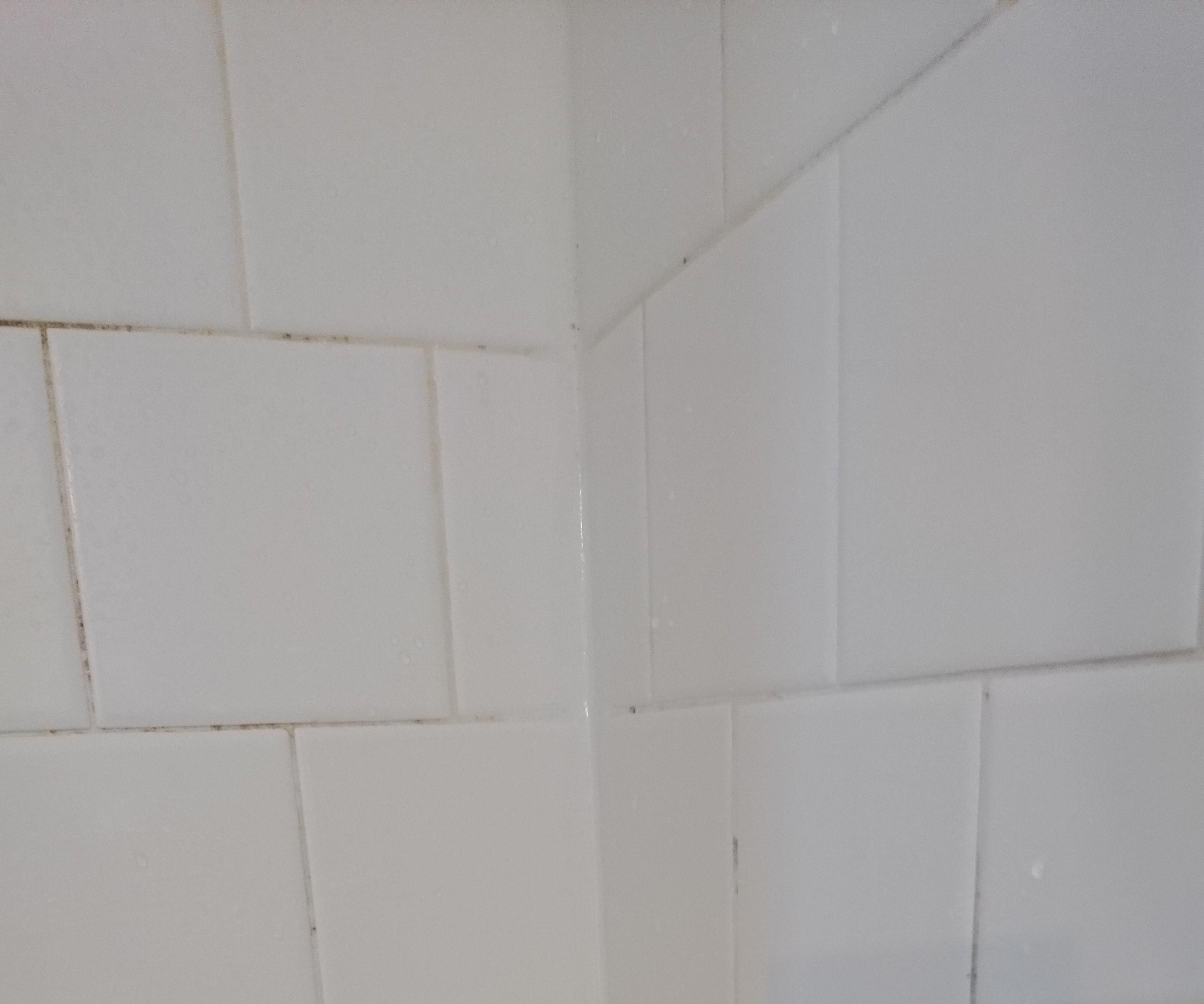 Clean Blackened Caulking in Bathroom
