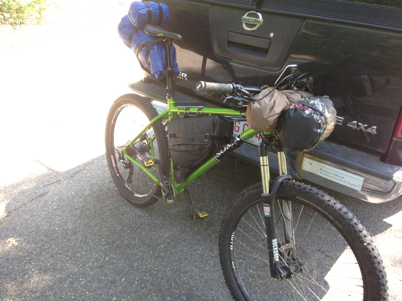 Filling the Bags and Getting the Bike Ready for the Journey