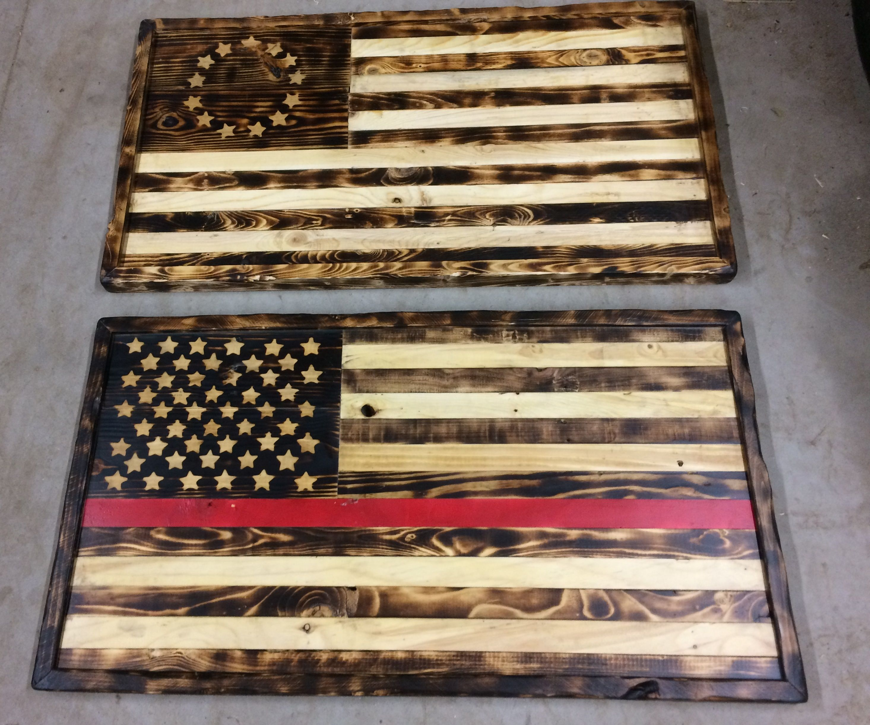 Pallet Wood American Flag (A.K.A. the Pyro Flag)