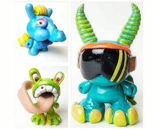 Mod一个带有sculpey的乙烯基艺术玩具
