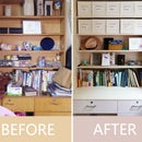Easy Organization! Cardboard Storage Box