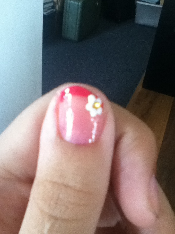 How To Do Easy And Cute Colored French Tips!!