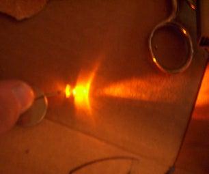 2 Piece LED on Off Flashlight