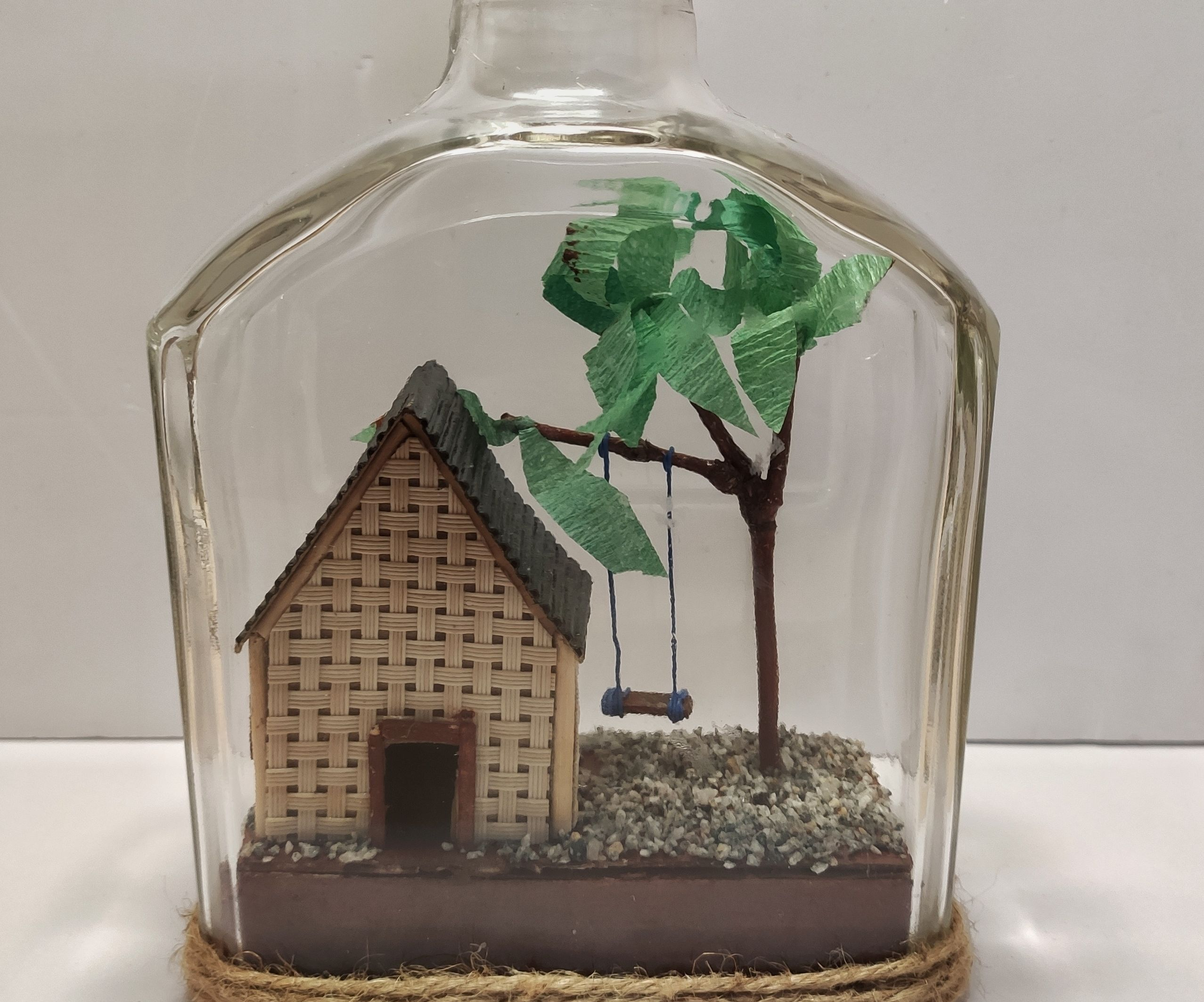 Recycled Glass Bottle Decor