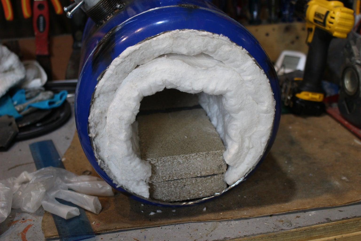 Installing the Ceramic Wool