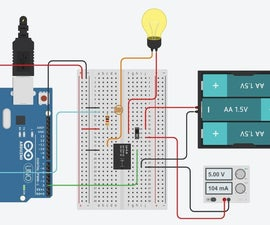 Arduino Relay Activated Light Dependent Lamp
