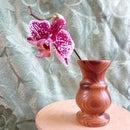 Flower Vase on a Lathe for Wood