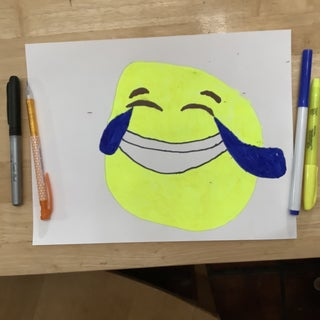 How to Draw a Laughing Emoji