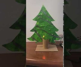 FUSED PLASTIC CHRISTMAS TREE WITH LEDS