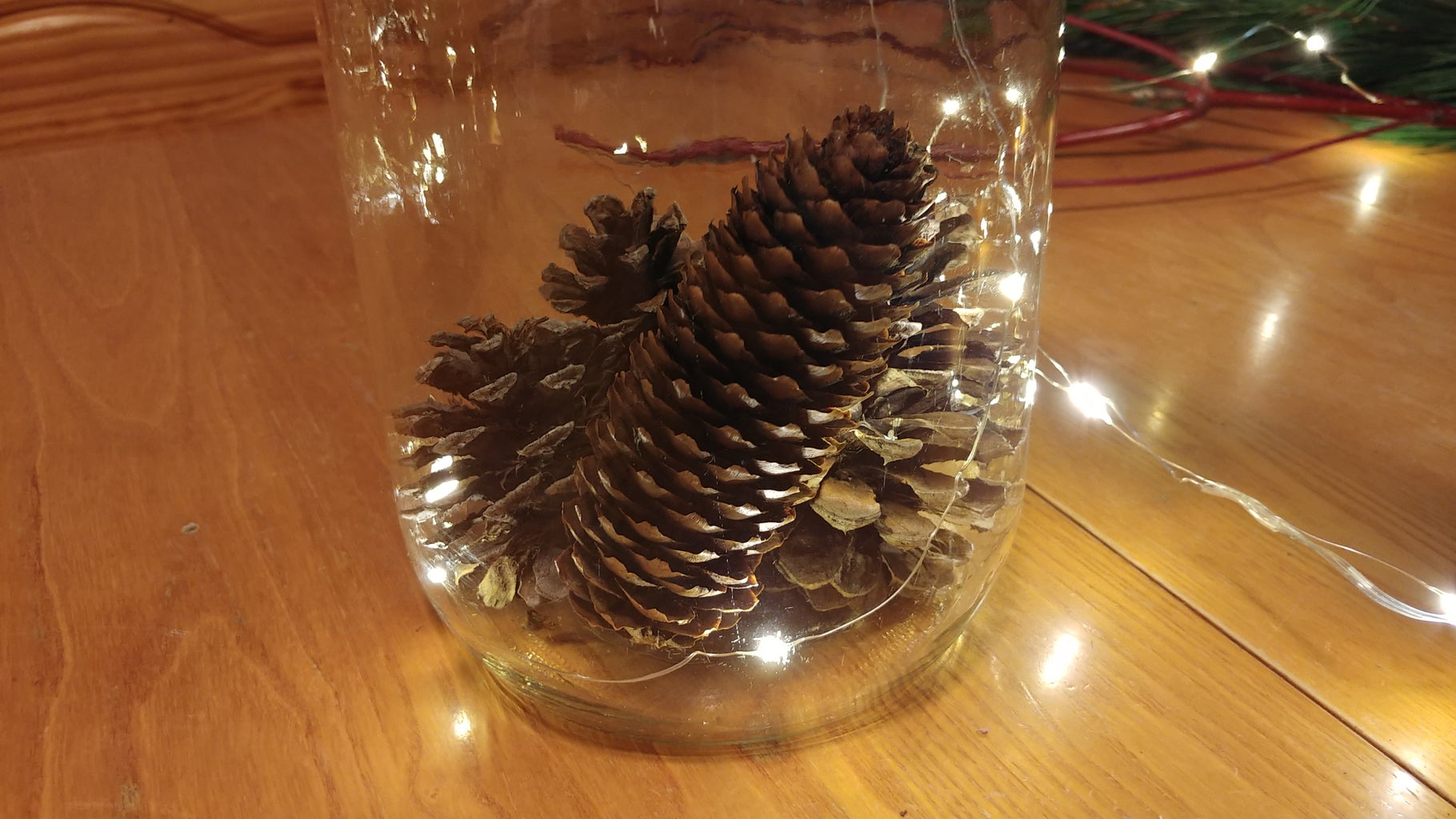 Layering Your First Pine Cones