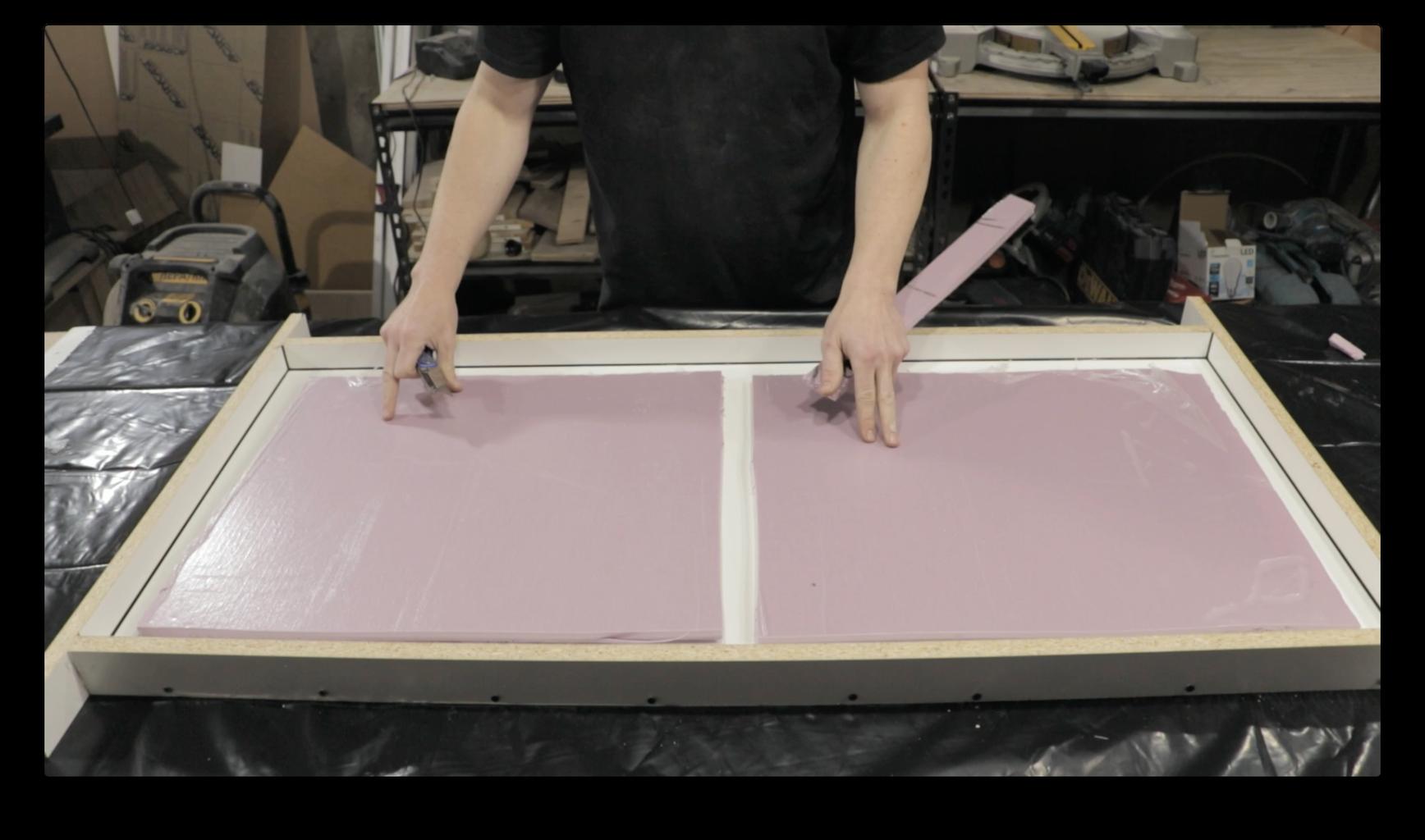 Cut Foam Inserts for the Concrete
