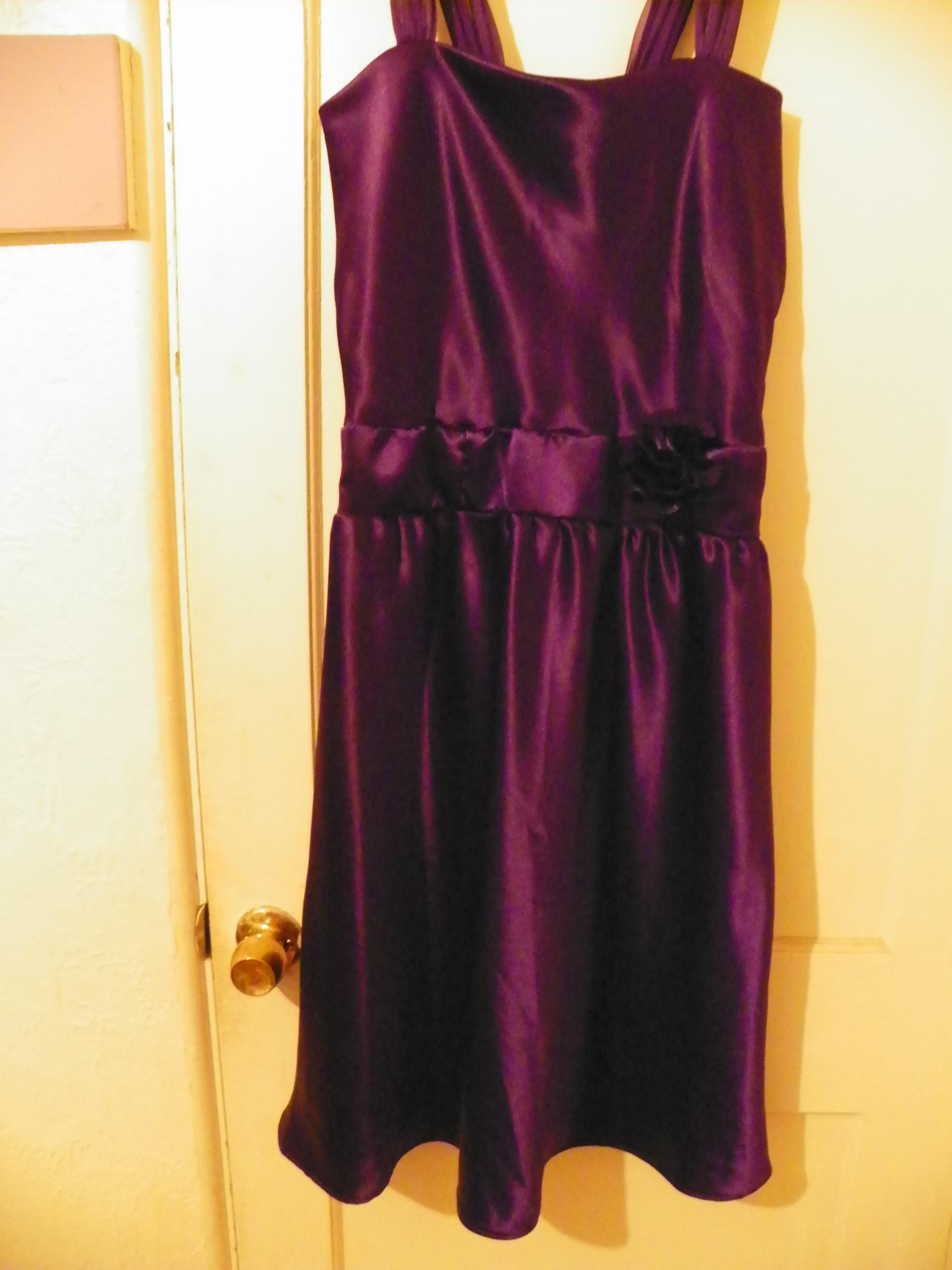 Thrift shop dress makeover
