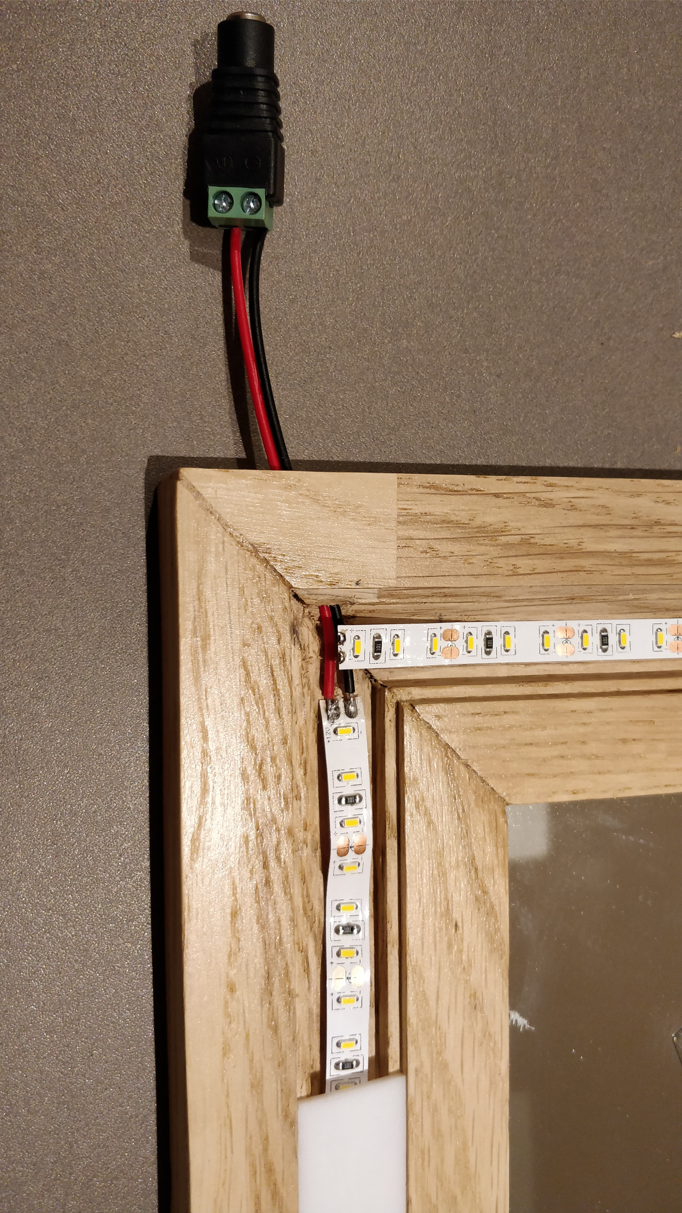 Modern Wood And Led Vanity Mirror 8 Steps With Pictures Instructables
