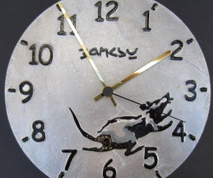 Banksy Inspired Cast Aluminium Clock
