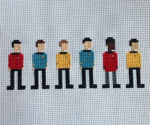 Star Trek Cross Stitch: the Original Series Crew