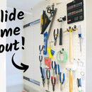 How to Make a Hidden Pegboard That Slides!
