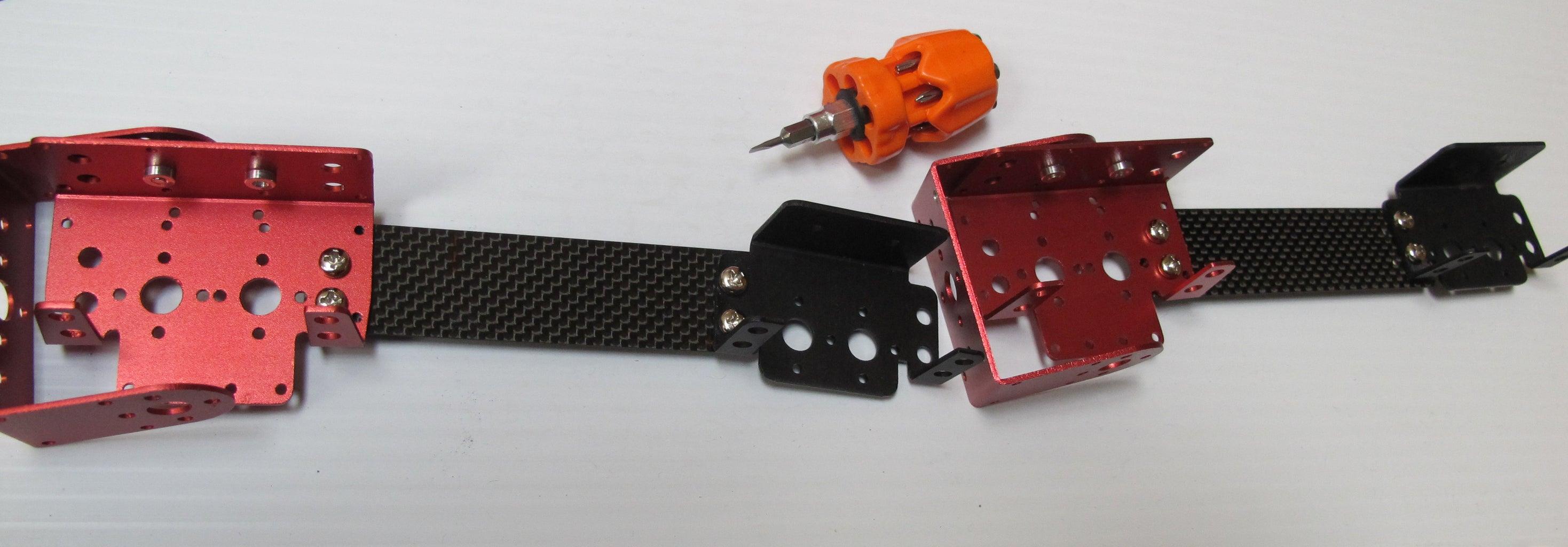 Prepare the Frame: Attach the Brackets to the Carbon Fiber
