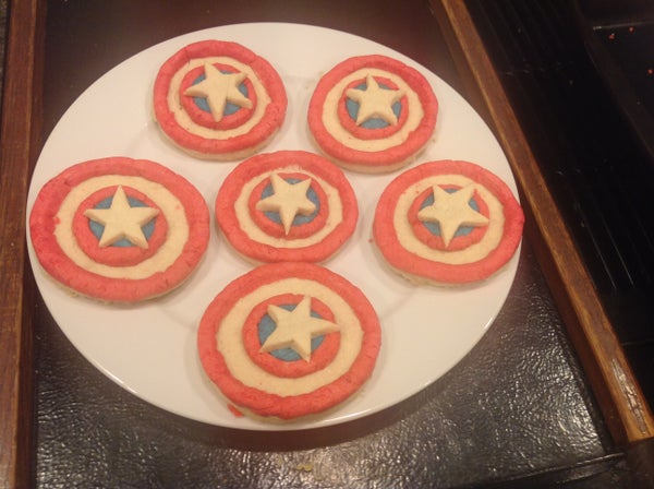 Captain America Shortbread