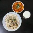 Veg Tawa Dhamaka With Indian Bread!