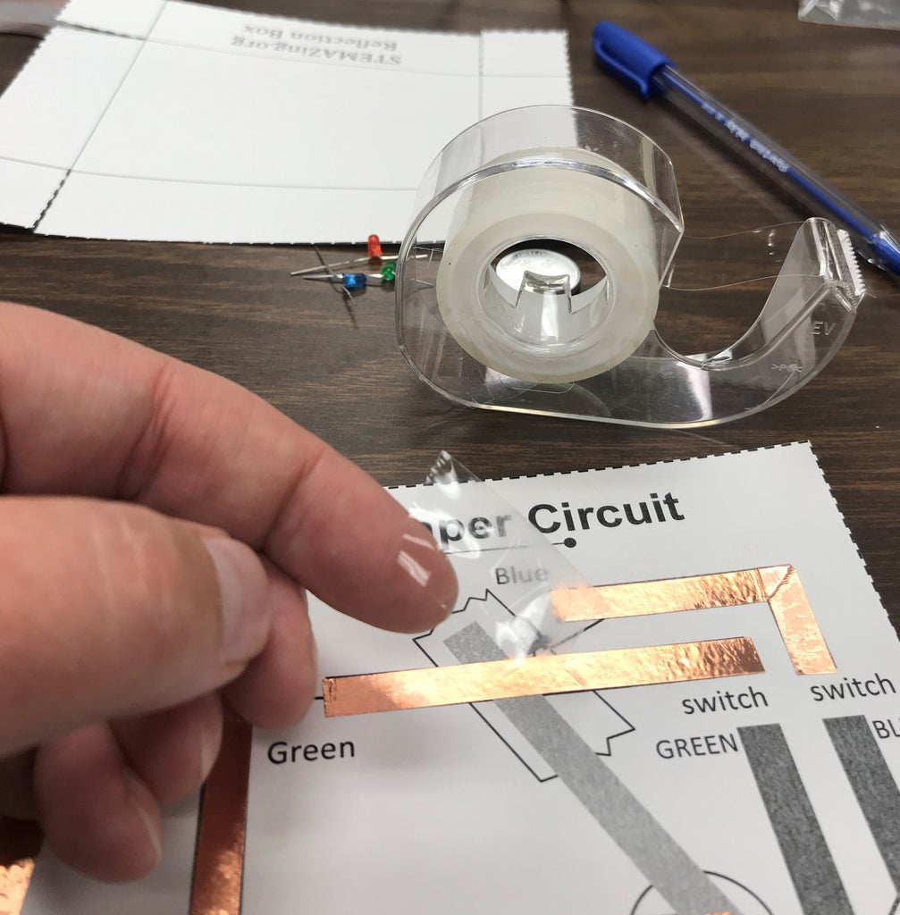 Using Transparent Tape to Allow for 3-D Circuit Design.