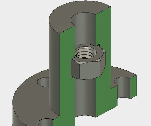 Make a Seamless Captive Nut in a 3D Printed Part
