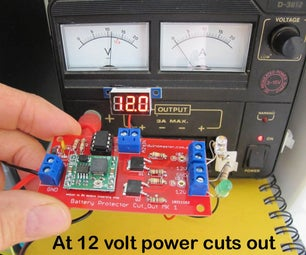 Battery Saver, Discharge Protector Cut-out Switch With ATtiny85 for Lead Acid Car or Lipo Battery